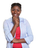 Smart african woman with casual clothes Stock Photos