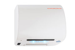 Smart air turbo automatic hand dryer ON mode Royalty Free Stock Photography
