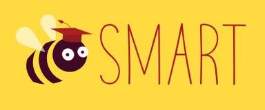 Smart akademiskt lock för bi stock illustrationer
