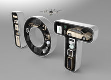 Smart anordning i ordet IoT Royaltyfria Bilder