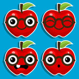 Smart Apples with Eyeglasses Royalty Free Stock Photography