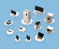 Smart appliances in network. Concept for IoT Stock Image