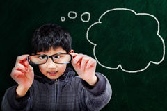Smart Asian Boy at School Concept Royalty Free Stock Photography