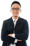 Smart asian business man isolated on white background Royalty Free Stock Images