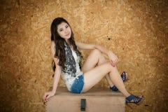 Smart asian girl is posing Stock Photography