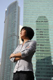 Smart Asian Woman With High Structure Buildings Stock Photography