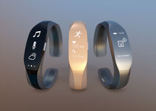 Smart bands with rubber bracelet Royalty Free Stock Photos