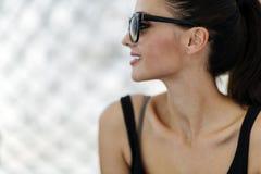 Smart beautiful woman wearing glasses Stock Image