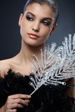 Smart beauty with party accessories Royalty Free Stock Photo