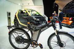 Smart bike, Motor Show Geneve 2015. royalty free stock image
