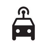 Smart bil- skårasymbol - svart Royaltyfria Bilder