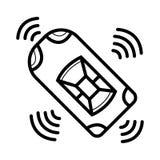 Smart bilsymbol royaltyfri illustrationer