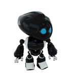 Smart black robot Royalty Free Stock Photos
