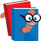 Smart Bookworm Illustration Stock Images