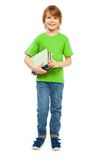 Smart boy with books Stock Images