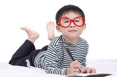 Smart boy dreamed a dream Stock Photos