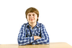 Smart boy learning for school Royalty Free Stock Photos