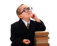 Smart Boy Looking Upwards stock photo