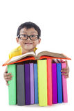Smart boy reading book Royalty Free Stock Image