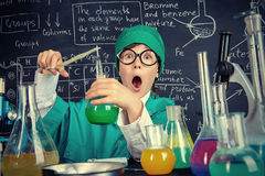 Unexpected chemical reaction Stock Images