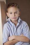 Smart boy in shirt Stock Photo