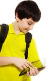Boy using tablet computer Royalty Free Stock Image