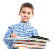 Smart Boy Studying Royalty Free Stock Photography