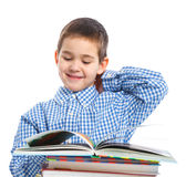 Smart Boy Studying Stock Photography
