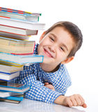 Smart Boy Studying Royalty Free Stock Photo