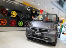 Smart Brabus. GENEVA - MARCH 16 : The Smart Brabus on display at the 82nd International Motor Show Palexpo -Geneva on March 16; 2012 in Geneva, Switzerland Stock Photography