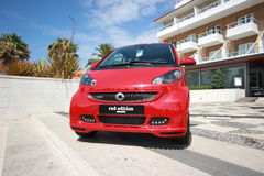 Smart Brabus Red Edition. Parked in Smart Times 2014 event in cascais portugal http://www.smarttimes14.com Royalty Free Stock Photo
