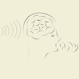 Smart brain technology. Reception, processing and transmitting information by smart brain technology Royalty Free Stock Photos