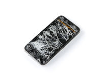 smart broken telefon royaltyfria foton