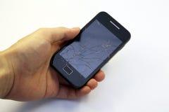 smart broken telefon Arkivbilder