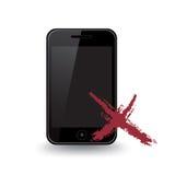 smart broken telefon Vektor Illustrationer