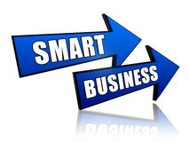 Smart business in arrows Stock Photography