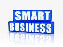 Smart business in blue blocks Royalty Free Stock Image