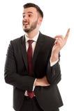 Smart business man having a new great ideea Stock Image