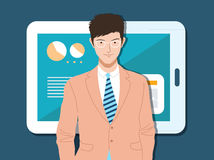 Smart Business man. Illustration Stock Image