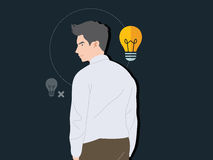 Smart Business man. Illustration Royalty Free Stock Photography
