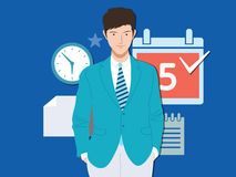Smart Business man. Illustration Stock Images