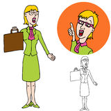 Smart Business Woman Stock Photo