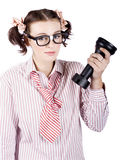 Smart Business Woman Devising Marketing Plan Royalty Free Stock Photography