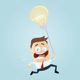 Smart businessman with idea balloon Stock Images