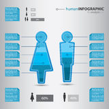 Smart businessman info graphic concept Royalty Free Stock Photo