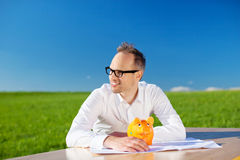 Smart businessman Royalty Free Stock Image