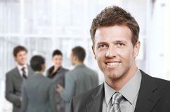 Smart businessman smiling Royalty Free Stock Photography