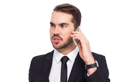 Smart businessman speaking on the phone Stock Photo