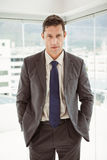 Smart businessman in suit at office Stock Photo