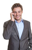 Smart businessman talking at phone Stock Photos